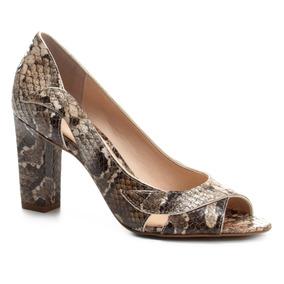 7d7a9aad9c26f Peep Toe Fendi De Couro Com Estampa De Cobra Shoestock - Sapatos no ...