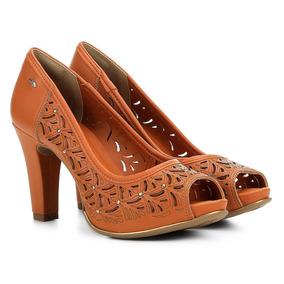 738c9bd607 Peep Toe Laranja - Sapatos para Feminino no Mercado Livre Brasil