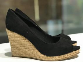 c9a688da6e Sapato Anabela Salto De Corda Peep Toe - Sapatos no Mercado Livre Brasil