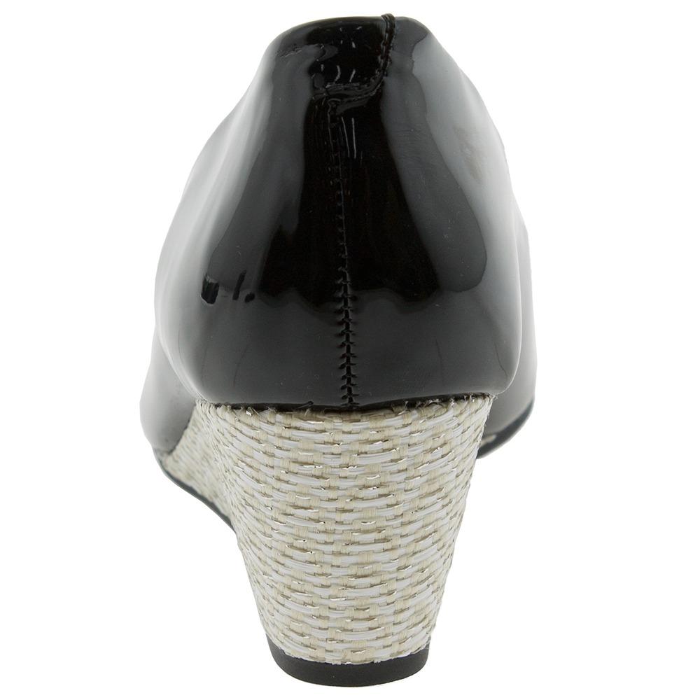 01bf1d251a peep toe feminino anabela verniz preto beira rio - 4791201. Carregando zoom.