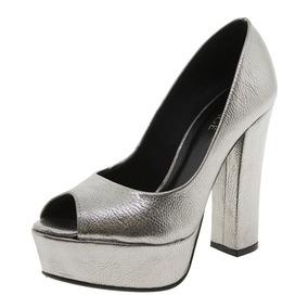 1ac81ccc25 Sapato Peep Toe Via Marte - Sapatos no Mercado Livre Brasil