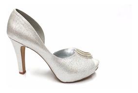9d3b1e7e9 Sapato Peep Toe Prata Festa - Calçados, Roupas e Bolsas com o ...
