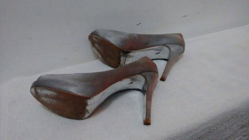 peep toe meia pata