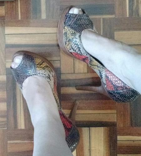 peep toe multi color