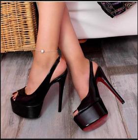 1faf250dee Sandalias De Salto Grosso 15 Cm - Sapatos no Mercado Livre Brasil