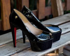 329ea1bc77 Sapato Salto 15 Cm Preto - Scarpins para Feminino no Mercado Livre ...