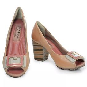 50045e22b 1123106r Scarpin Ramarim Bico De Navio Em Couro - Sapatos com o Melhores  Preços no Mercado Livre Brasil