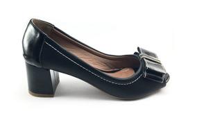 4497a3b18 Sapato Panarotti Em Verniz Feminino Peep Toe - Sapatos Preto em ...