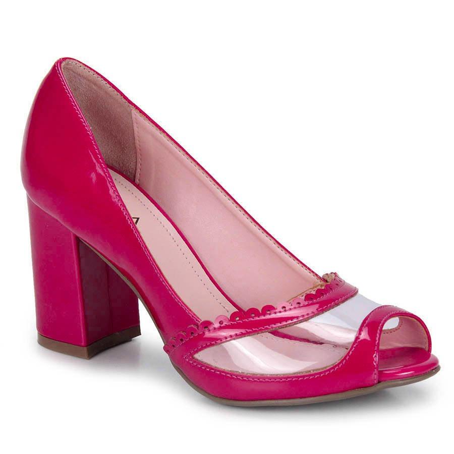 4d2db7ba65 peep toe salto feminino lara - pink. Carregando zoom.