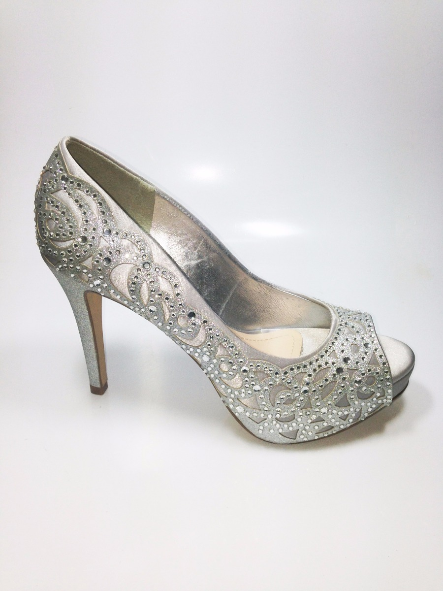 f057330fb Carregando zoom... sapato peep toe festa noivas debutantes prata (86223)