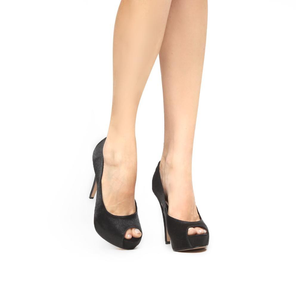 8df5cdefed peep toe shoestock festa meia pata embutida. Carregando zoom.