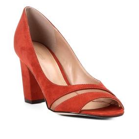 5ba3524450 Peep Toe Fendi De Couro Shoestock Melissa - Sapatos no Mercado Livre ...