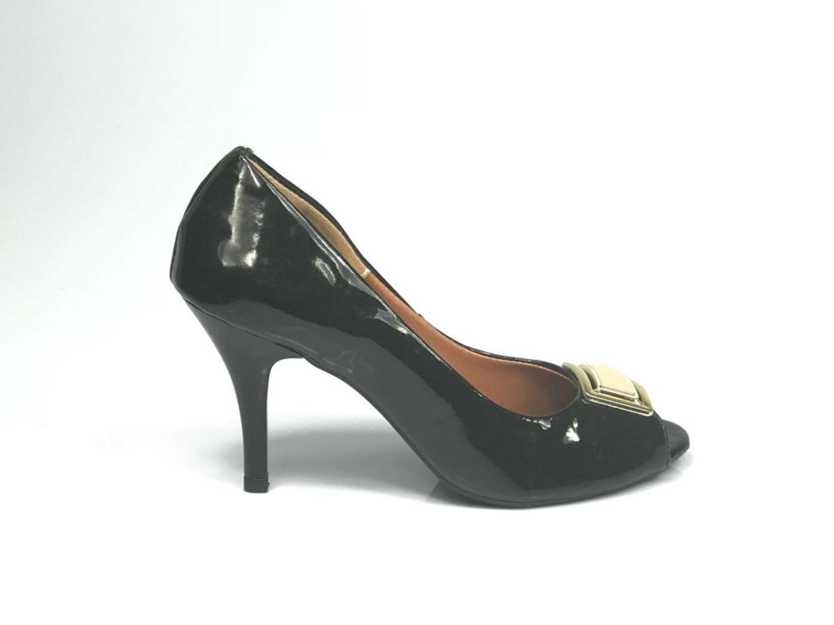 5b789acf25 peep toe tradicional antonelli- salto fino- sintético verniz. Carregando  zoom.
