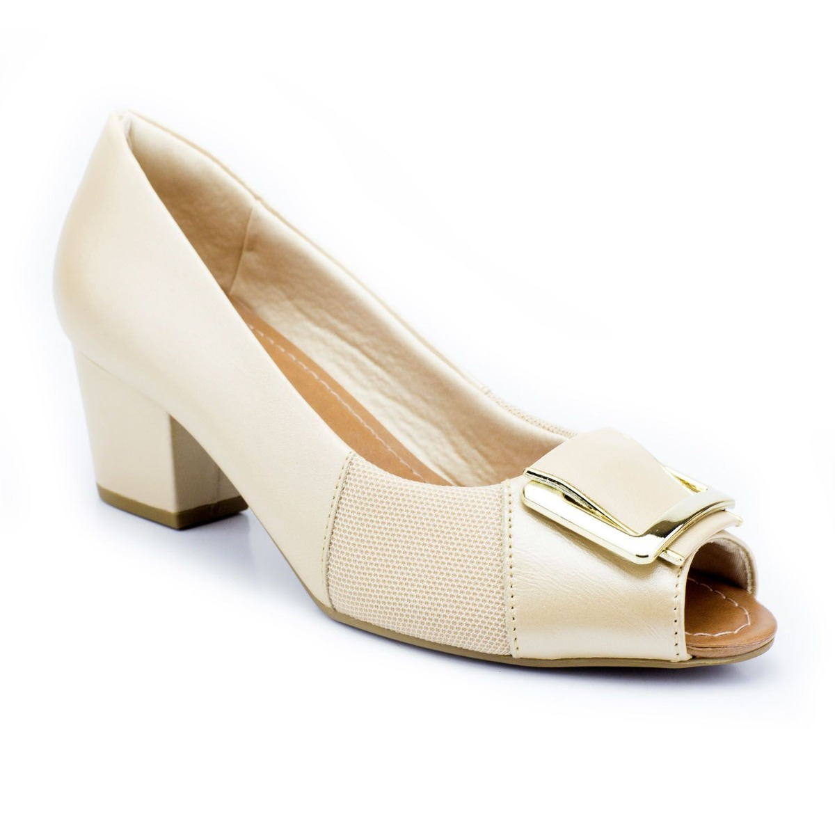 d398b17111 Peep Toe Usaflex Nude Joanetes Linha Conforto By Vértice - R  239