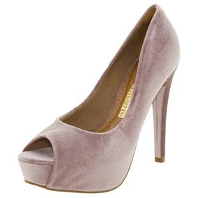 00a29d1124 Sapato Peep Toe Via Marte - Sapatos no Mercado Livre Brasil