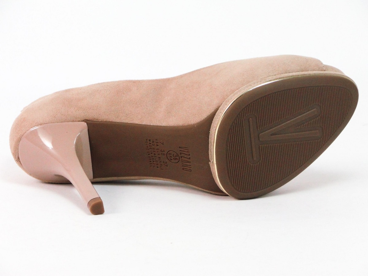 41d874b20 Peep Toe Vizzano Nude Salto Alto Social - R$ 134,35 em Mercado Livre