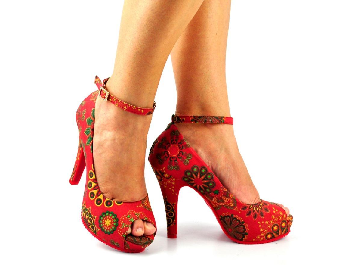 f82b3075ad peeptoe sapato feminino estampado salto fino alto 18c13. Carregando zoom.