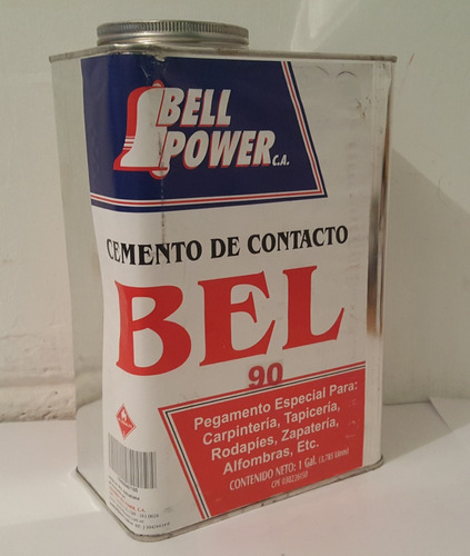 pega galón amarilla de contacto bell power