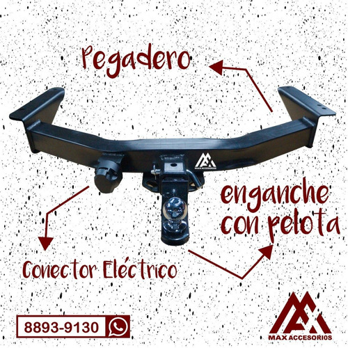 pegadero max isuzu mux - rack portabicis carreta