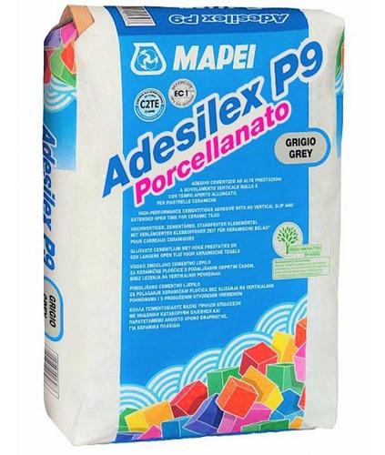 pegamento adhesivo para porcelanatos mapei adesilex p9 x 25 kg