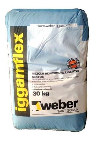 pegamento iggamflex para porcelanato x 30kg weber
