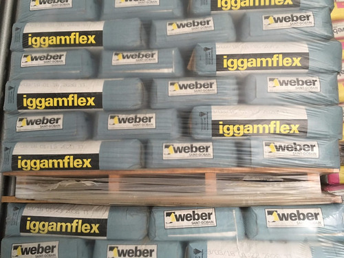 pegamento iggamflex para porcelanato x 30kg weber cuotas