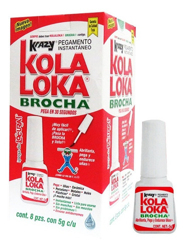 pegamento kola loka brocha 5gr (caja con 8 piezas)