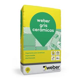 Pegamento P/ Ceramica Weber Col Gris X 30 Kg Ricardo Ospital