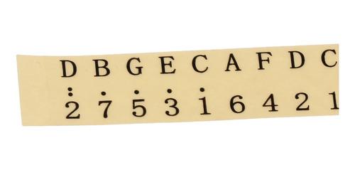 pegatina de nota de piano de kalimba de 10 piezas para