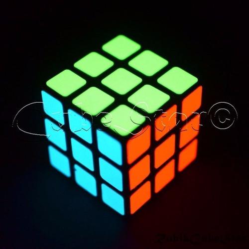 pegatinas cubo rubik 3x3 stickers alumbran oscuridad colores