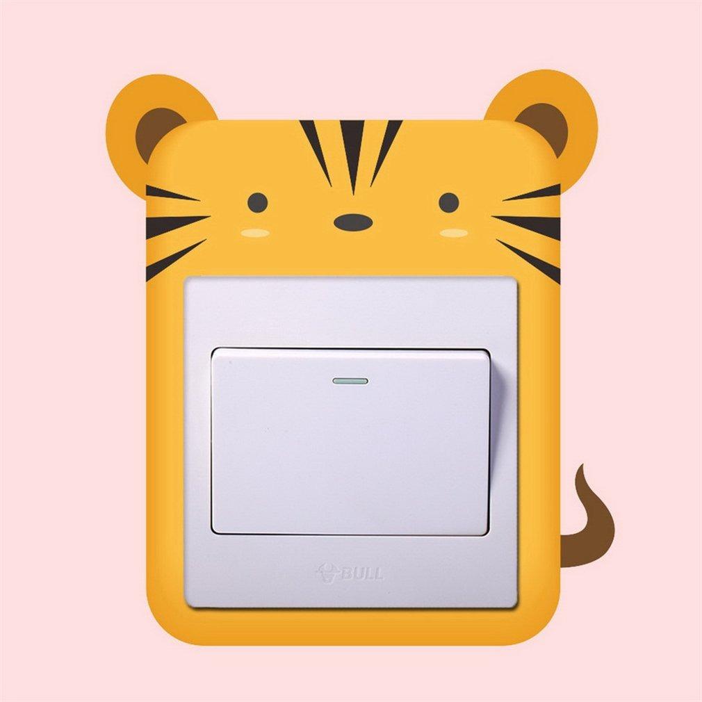 Pegatinas Panel Interruptor De Dibujos Animados Lindo Tigre