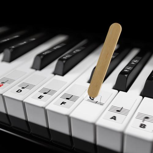 pegatinas para teclas de piano blancas y negras