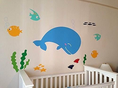 pegatinas pared cuarto niños las decoraciones pez calcomanía