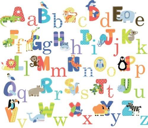 pegatinas,animal alphabet nursery peel & stick wall deca..
