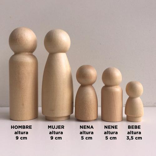 pegland muñeco de madera waldorf montessori x 100 unidades