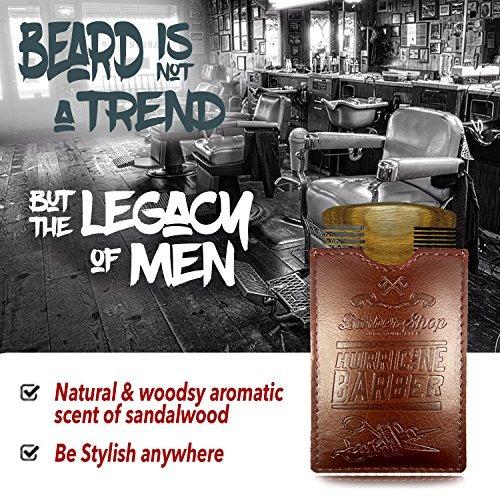 peine barba adventure aid madera de sándalo + funda.