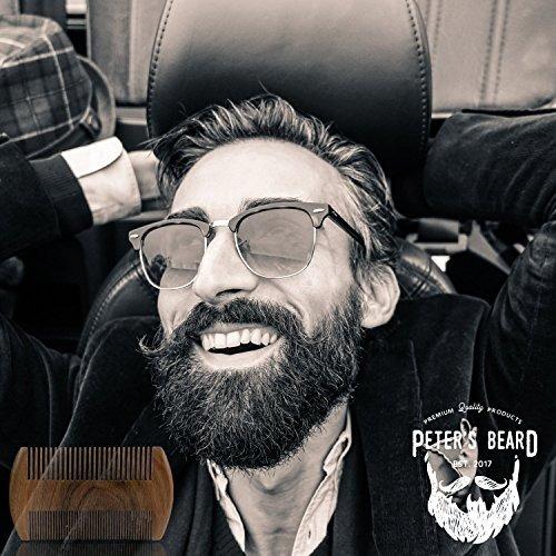 peine barba hombres antiestático peter's beard, madera, die