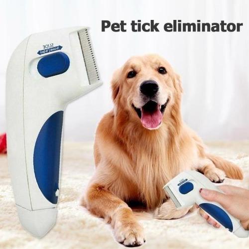 peine eléctrico para mascotas mata pulgas