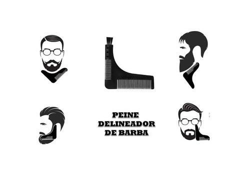 peine guia para barba aceite de ricino 140 ml y navaja