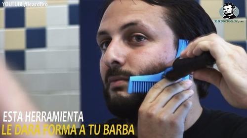 peine para barba cepillo y delineador en segundos! lincoln