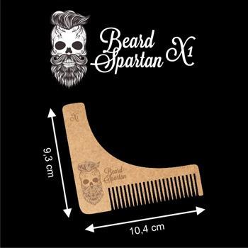 peine para la barba, con guia (plantilla) para corte stencil