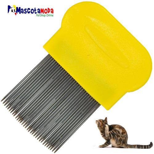peine peinilla anti pulgas para perros y gatos pelo largo