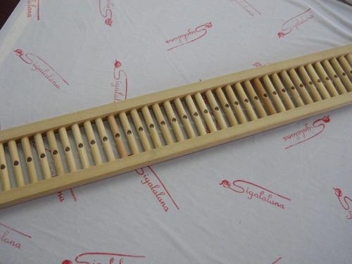 peine semigrueso de madera de 100cm para telar
