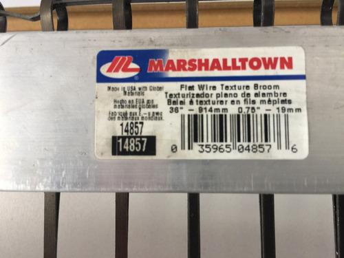 peine texturizador de concreto marshalltown
