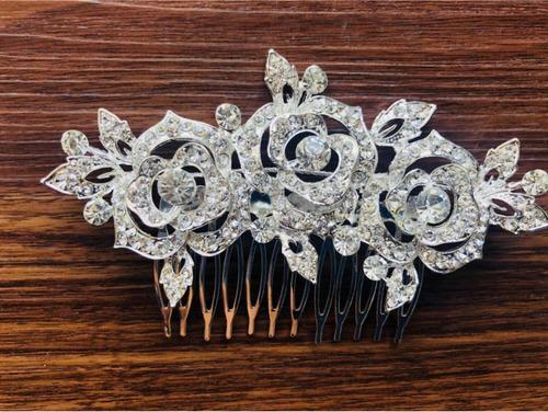 peineta tocado kim kardasha novia boda crystal ceremonias
