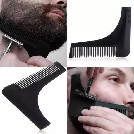 peinilla guía para arreglar la barba (11cm)