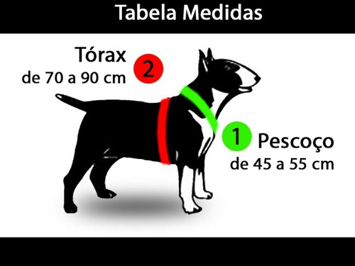 peitoral ajustável c/ cravo cães raça pit bull pitbull