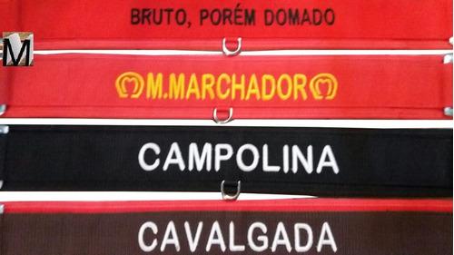 peitoral para cavalo bordado vários nomes
