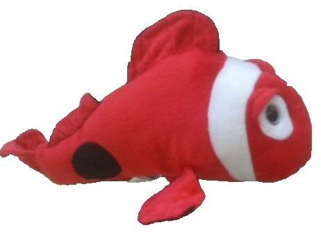 peixe de pelúcia wolder vermelho 30 cm  anti alérgico unisex