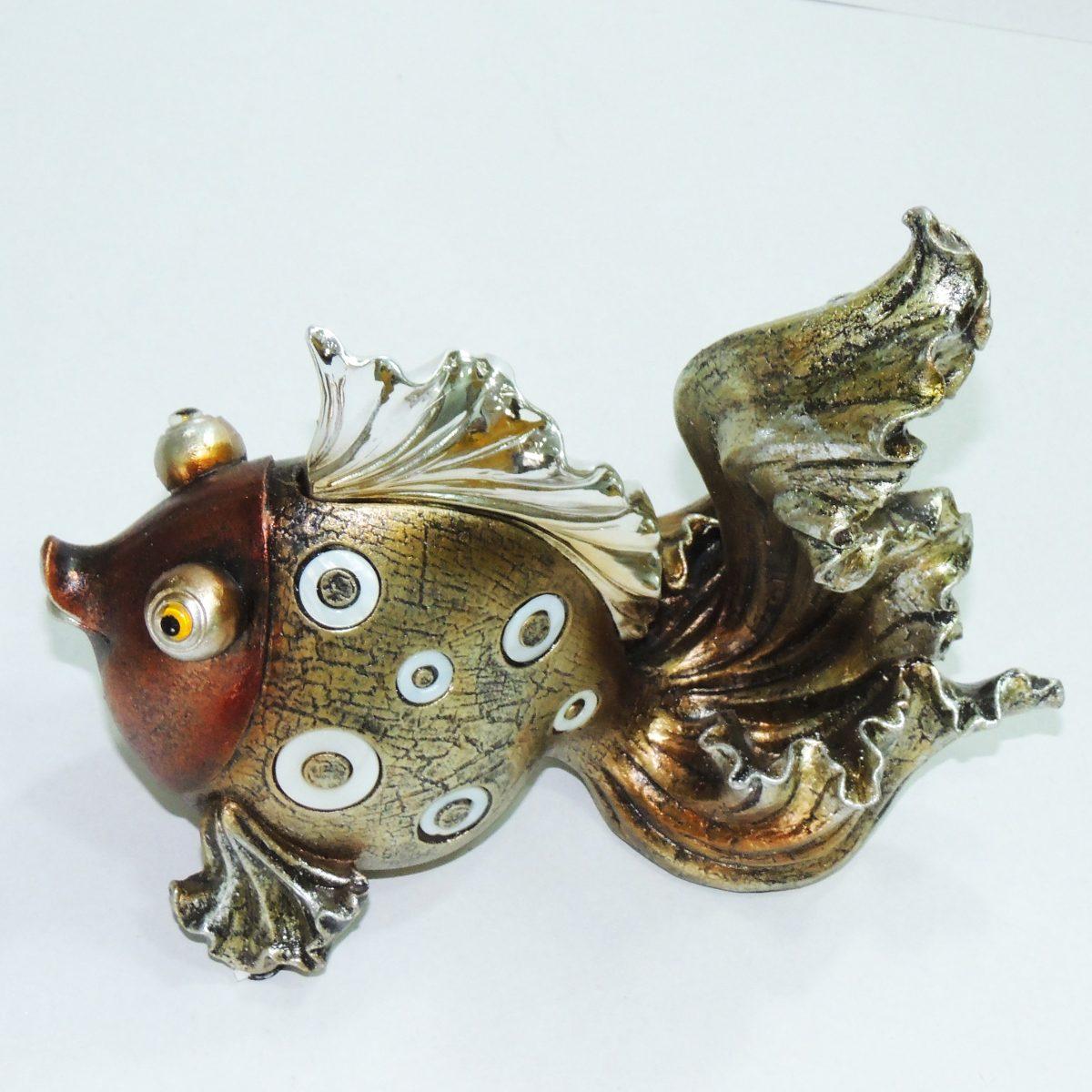 Enfeite De Resina ~ Peixe Decorativo Resina Enfeite Sala Vaso Estatueta Estátua R$ 78,00 em Mercado Livre